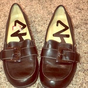 Anne Klein Buckle Leather Detail Loafer